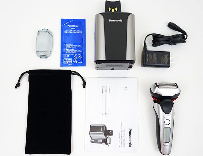 box contents of Panasonic arc 3 es lt7n s electric shaver