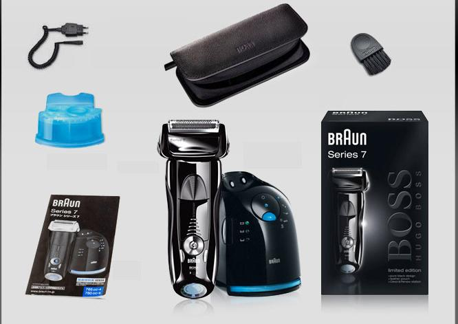 Box Contents of Braun series 7 790cc-4 electric shaver