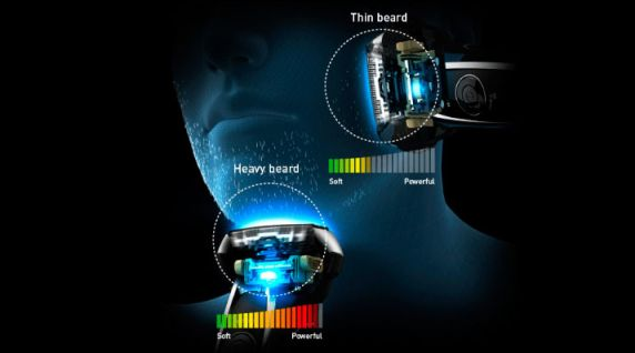 Panasonic Arc5 Head Shaving Sensor