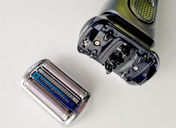 Braun series 9095c with cutting head opened