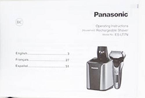 Panasonic Arc 3 ES-LT7N-S user manual