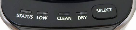 Panasonic Arc 3 ES LT7N S cleaning dock indicators