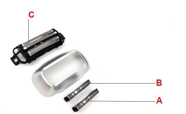 Panasonic ES LT7N S electric shaver heads taken apart