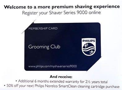 Phlips Norelco 9300 grooming club membership