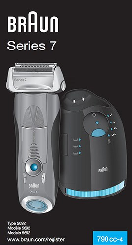 Instruction Manual For Braun Series 7 790cc-4 electric shaver